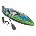 Intex Kayak Challenger Inflatable Set Aluminum Oars High Output 2-Person Shoes