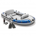 Intex Excursion Inflatable Boat Set Aluminum Oars High Output 4-Person